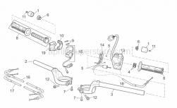 Frame - Handlebar - Aprilia - Screw w/ flange