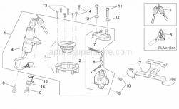 Frame - Lock Hardware Kit - Aprilia - Screw w/ flange
