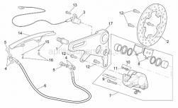 Frame - Rear Brake Caliper - Aprilia - Screw w/ flange M5x12