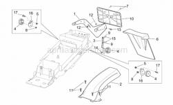 Frame - Rear Mudguard - Aprilia - Washer 5,3x10x1*