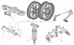 Accessories - Acc. - Cyclistic Components - Aprilia - Front wheel, magnesium RED