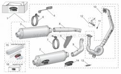 Accessories - Acc. - Performance Parts Evo - Aprilia - LHCF exhaus mnt brac,05-08RSV 07-08Tuono