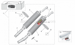 RH silencer support clamp