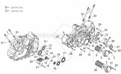 Engine - Crankcases II - Aprilia - Oil strainer