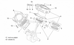 Engine - Crankshaft Ii - Aprilia - Cylinder with piston