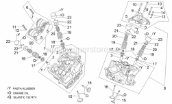 Engine - Cylinder Head And Valves - Aprilia - Front cylinder head cpl.