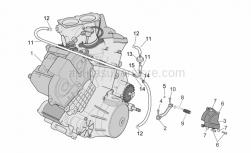 Engine - Engine - Aprilia - Hose clip, green D11x6,6x1