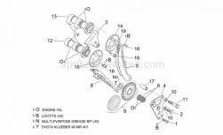 Engine - Front Cylinder Timing System - Aprilia - Exhaust camshaft
