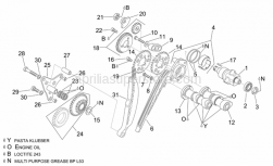 Engine - Rear Cylinder Timing System - Aprilia - Timing system gear