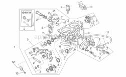 Engine - Throttle Body - Aprilia - Fuel pressure regulator