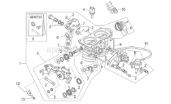 Engine - Throttle Body - Aprilia - Shear rivet