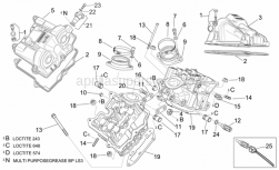 Engine - Valves Cover - Aprilia - Rear valves cover