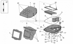 Frame - Air Box - Aprilia - Screw w/ flange