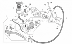 Frame - Clutch Pump - Aprilia - Rear brake pump union