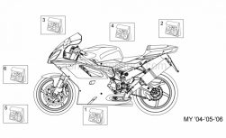 Frame - Decal My 04-05-06 - Aprilia - Rear fairing decal set