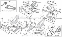 Frame - Foot Rests - Aprilia - PEDANA PASSEGGERO DX