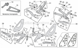 Frame - Foot Rests - Aprilia - Screw w/ flange