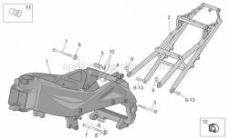 Frame - Frame I - Aprilia - Saddel support