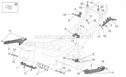 Frame - Frame II - Aprilia - Screw w/ flange M10x55