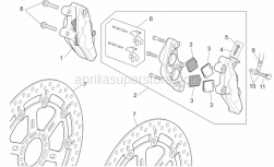 Frame - Front Brake Caliper I - Aprilia - Pin+Brake spring