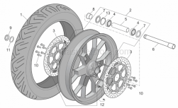 Frame - Front Wheel Factory - Dream I - Aprilia - Wheel spindle nut