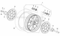 Frame - Front Wheel Factory - Dream Ii - Aprilia - Wheel spindle nut