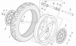 Frame - Front Wheel R Version - Aprilia - Screw w/ flange M8x20