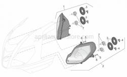 Frame - Headlight - Aprilia - LH headlight