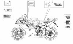 Frame - Plate Set And Handbooks - Aprilia - DECALCO EMISSIONI SONORE
