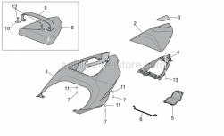 Frame - Rear Body - Rear Fairing I - Aprilia - Rear fairing, transp.