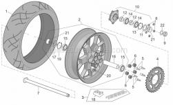 Frame - Rear Mudguard - Aprilia - Rear wheel, gold
