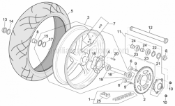 Frame - Rear Wheel R Version - Aprilia - Rear wheel spindle