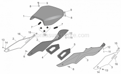 Frame - Saddle - Aprilia - RH adhesive sponge
