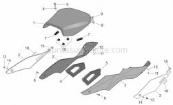 Frame - Saddle - Aprilia - LH adhesive sponge