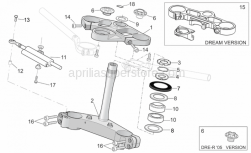 Frame - Steering - Aprilia - Ring nut