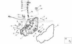 OEM Engine Parts Diagrams - Clutch Cover - Aprilia - Screw w/ flange