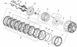 OEM Engine Parts Diagrams - Clutch II - Aprilia - Driven steels