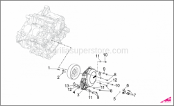 OEM Engine Parts Diagrams - Cover - Aprilia - FLYWHEEL COVER