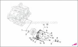 OEM Engine Parts Diagrams - Cover - Aprilia - WASHER