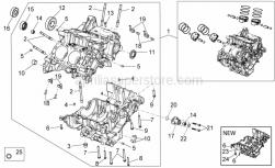 Engine - Crank-Case I - Aprilia - Ball bearing