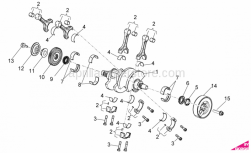 OEM Engine Parts Diagrams - Drive Shaft - Aprilia - HEXAG. HEAD SCREW