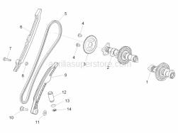 OEM Engine Parts Diagrams - Rear Cylinder Timing System - Aprilia - Bushing