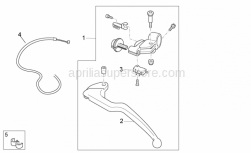 OEM Frame Parts Diagrams - Clutch Pump - Aprilia - Clutch pedal