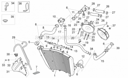 OEM Frame Parts Diagrams - Cooling System - Aprilia - Water cooler upper support