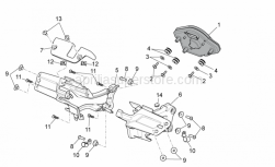 OEM Frame Parts Diagrams - Dashboard - Aprilia - LH shell