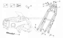 OEM Frame Parts Diagrams - Frame II - Aprilia - Water cooler upper support