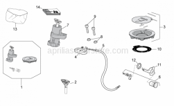 OEM Frame Parts Diagrams - Lock Hardware Kit - Aprilia - Fuel filler cap gasket