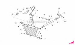 OEM Frame Parts Diagrams - Oil Radiator - Aprilia - Water cooler support