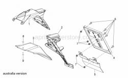 OEM Frame Parts Diagrams - Rear Body III - Aprilia - Upper Number plate holder