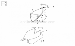 OEM Frame Parts Diagrams - Rear Wheel - Aprilia - Pillion seat strap